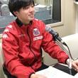 藤村怜選手 4月13日放送分 収録風景1